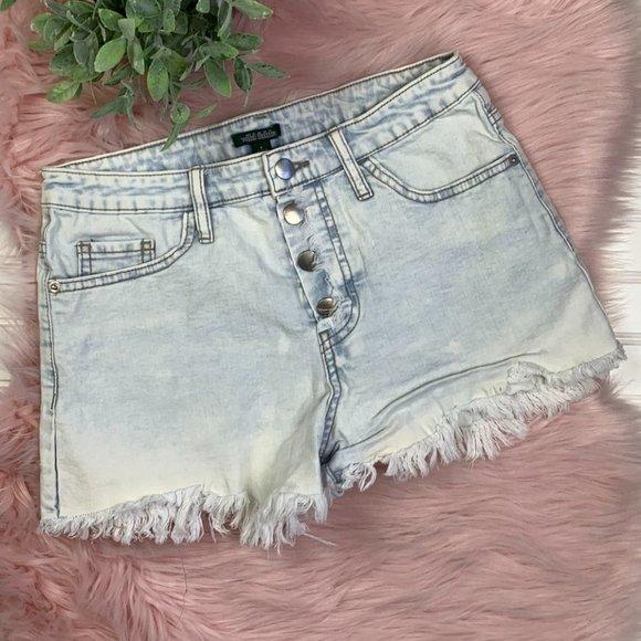 Wild Fable White Wash Denim Shorts